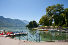 Annecy lake Stock Images
