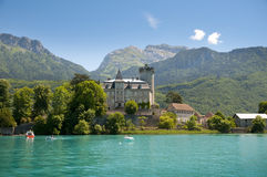 Annecy lake. Landscape view from Annecy lake in French Alps. Region Houte Savoy Stock Photo