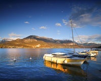 annecy lake Arkivfoto