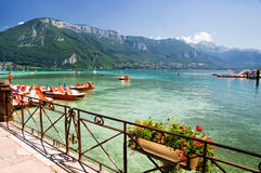 Annecy lake. In Haute Savoie Royalty Free Stock Photo