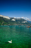annecy lake Royaltyfria Foton