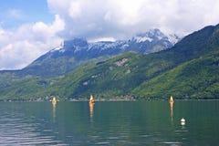 annecy lake Fotografering för Bildbyråer