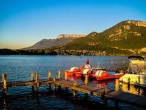 annecy lake Royaltyfri Fotografi