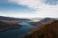 Annecy Lake Aerial Royalty Free Stock Photo