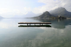 Annecy Lake At Talloires, France Stock Photos