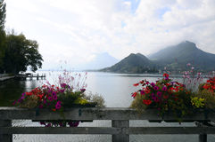 Annecy Lake At Talloires, France Stock Photography