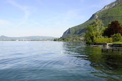 Annecy lake and city Stock Image