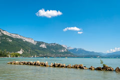 Annecy lake, France Royalty Free Stock Photography
