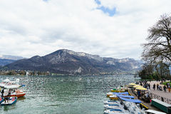 Annecy lake, France Stock Photos
