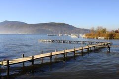 Annecy lake in France Royalty Free Stock Photo