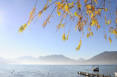 Annecy lake in France Royalty Free Stock Image