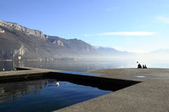 Annecy lake in France Royalty Free Stock Photography