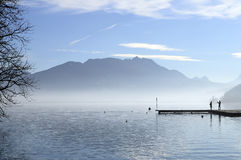 Annecy lake in France Royalty Free Stock Images