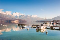 Annecy lake in French Alps. Beautiful landscape Stock Images