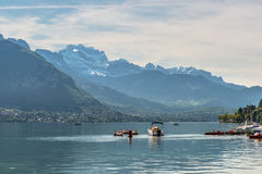 Annecy Lake in French Alps Royalty Free Stock Photo