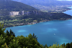 The Annecy lake, haute-savoie, France Royalty Free Stock Image