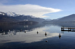 Annecy lake landscape in France Stock Photography