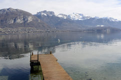 Annecy lake landscape in France Royalty Free Stock Photos