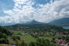 Annecy lake landscape Royalty Free Stock Image