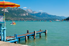 Annecy lake landscape, Savoy Stock Photography