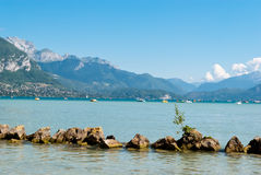 Annecy lake landscape, Savoy, France Stock Images