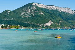 Annecy lake landscape, Savoy, France Royalty Free Stock Image