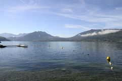 Annecy lake on morning in France Royalty Free Stock Image