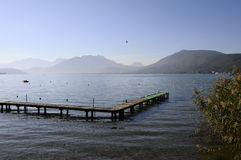 Annecy lake on morning in France Royalty Free Stock Images