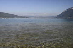 Annecy lake and mountains Stock Images