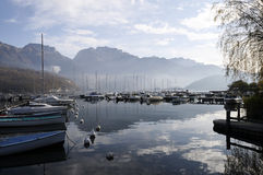 Annecy lake and mountains Stock Photography