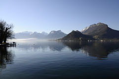 Annecy Lake On Morning Royalty Free Stock Image