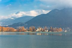 Annecy Lake at winter royalty free stock photo