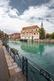 Annecy Main Canal Old City Stock Photo