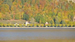 Annecy meer en omloop stock videobeelden