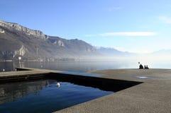 Annecy meer in Frankrijk Royalty-vrije Stock Fotografie