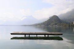 Annecy meer in Talloires, Frankrijk Royalty-vrije Stock Foto's