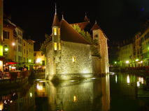 Annecy by night Royalty Free Stock Photo