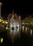 Annecy by night Royalty Free Stock Photography
