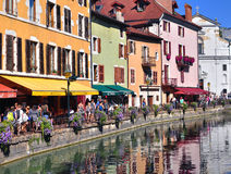 Annecy old town, France Stock Image