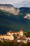 Annecy Old Town Mountains Distant Royalty Free Stock Photos