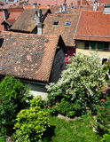 Annecy old town, old roof Royalty Free Stock Images