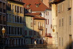 Annecy old town at sunset Royalty Free Stock Images