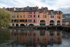 Annecy romantic streets Stock Photos