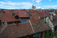 Annecy rooftop royalty free stock images