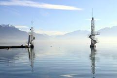 Annecy sjö i Frankrike Royaltyfri Foto