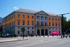 Annecy stadshotel DE Ville City Hall in Frankrijk op zonnige de zomerdag royalty-vrije stock foto's