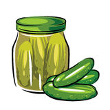 сanned pickles Stock Photo