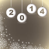 Annee1. A gretting cards, with some light for the 2014 new year Stock Image