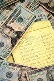 Annegando nei debiti Fotografia Stock Libera da Diritti