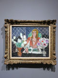 Annelies, White Tulips and Anemones - painting by Henri Matisse Stock Photos